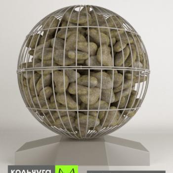 ШАР габион для сада из металла и камней от Кольчуга АРТ