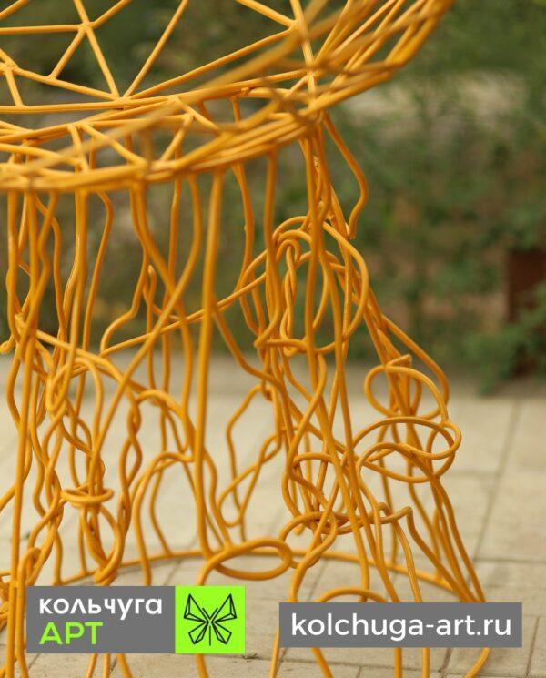Стул желтый в форме чаши от Кольчуги АРТ в России