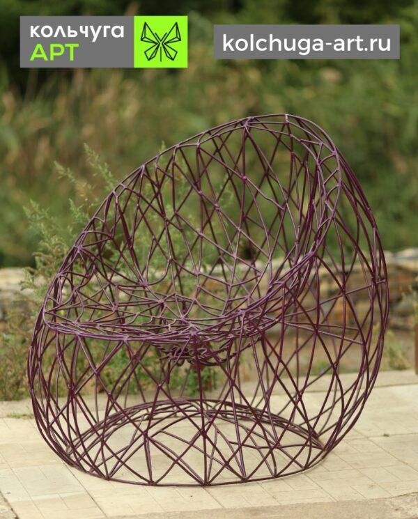 Кресло для сада из металла ручной работы от производителя Кольчуга АРТ.